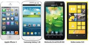 iPhone 5 vs. Samsung Galaxy S3 vs. Droid RAZR HD vs. Nokia Lumia 920