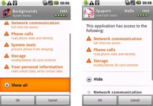 Android Apps Permissions