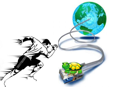 speed up a slow internet connection