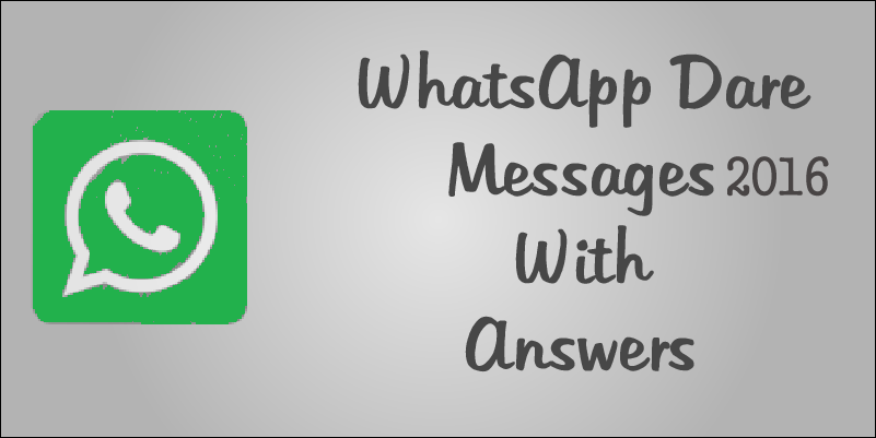 whatsapp dare messages