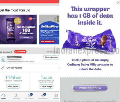 Jio Dairy Milk Offer